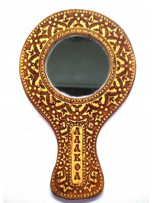 """Зеркало с ручкой """"Алаколь"""" 14*9 см"""